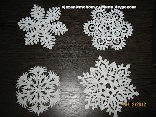 Вырезаем снежинки из бумаги к Новому году. Схемы.