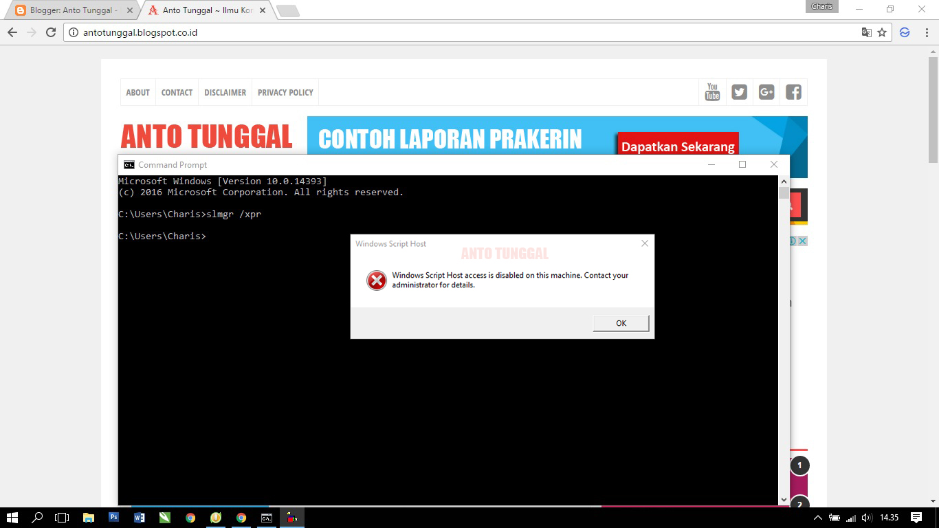 Cara mengatasi windows script host access is disabled on this cara mengatasi windows script host access is disabled on this machine ccuart Image collections