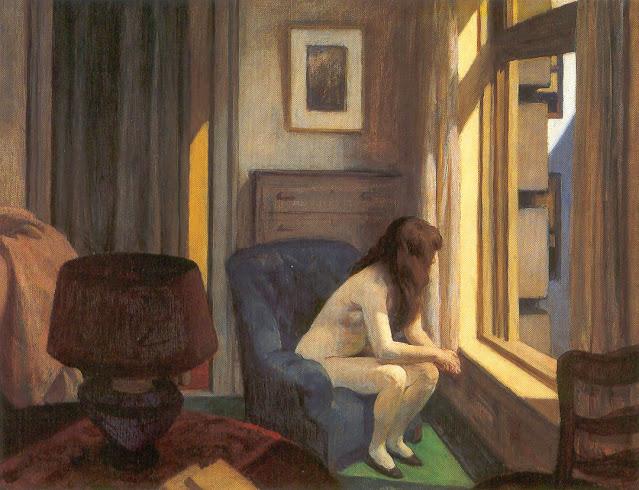 Quadro Hopper donna nuda alla finestra