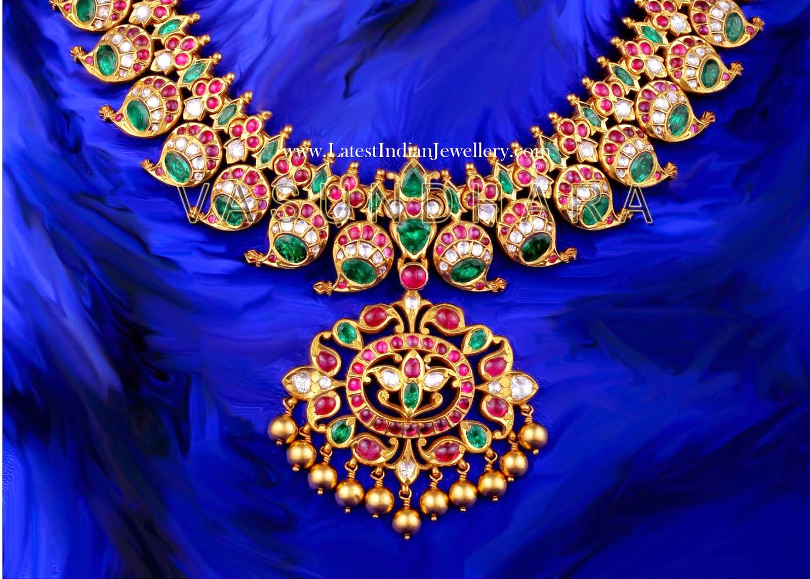 Kundan Mango Mala Necklace