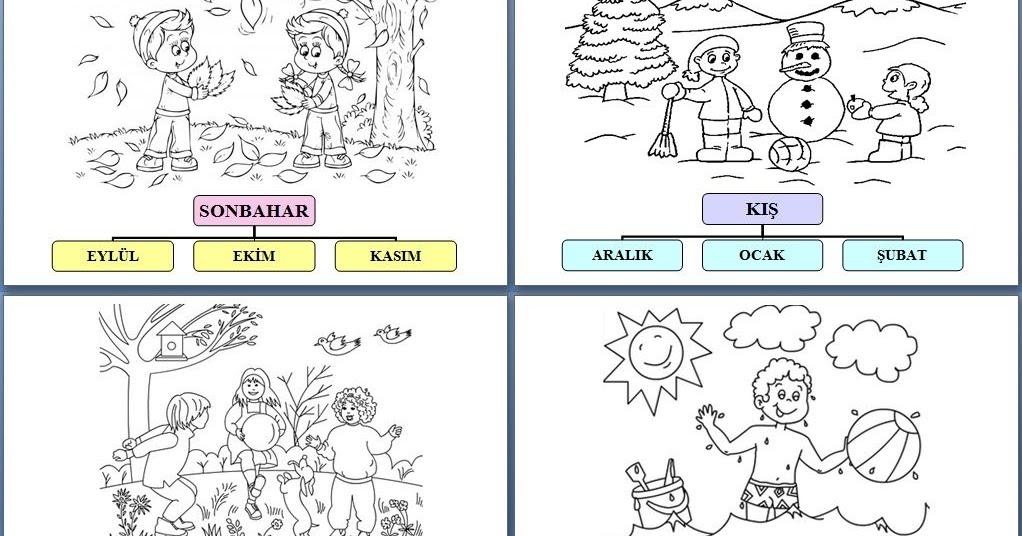 New Dort Mevsim Boyama Kitaby Ikoku
