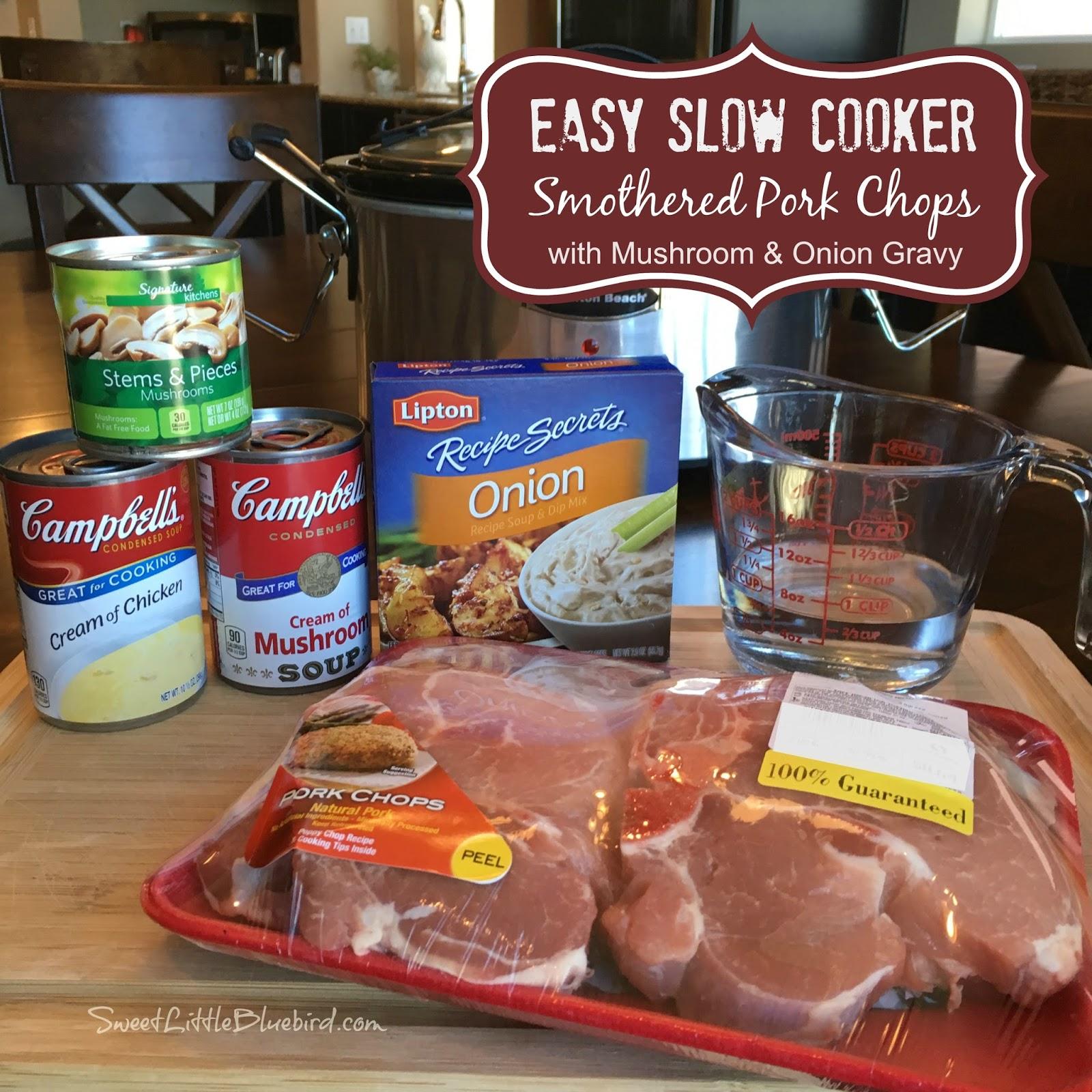 crock pot pork chops with mushroom soup