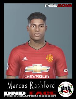 PES 2019 Faces Marcus Rashford by DNB