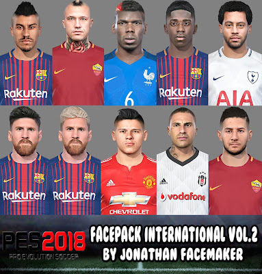 PES 2018 Facepack International v2 by Jonathan Facemaker