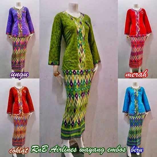 Baju Setelan Batik Wanita: Baju Batik Wanita Setelan Rok Panjang