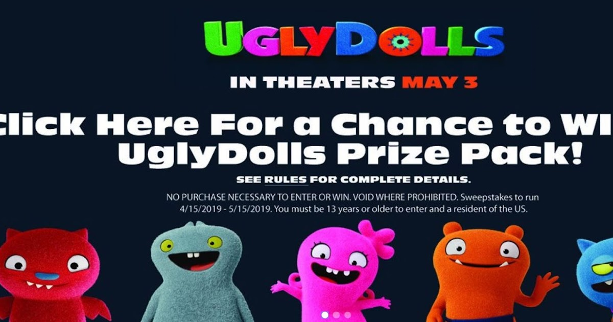 UglyDolls Movie Swag Prize Pack Giveaway - 12 Winners Win