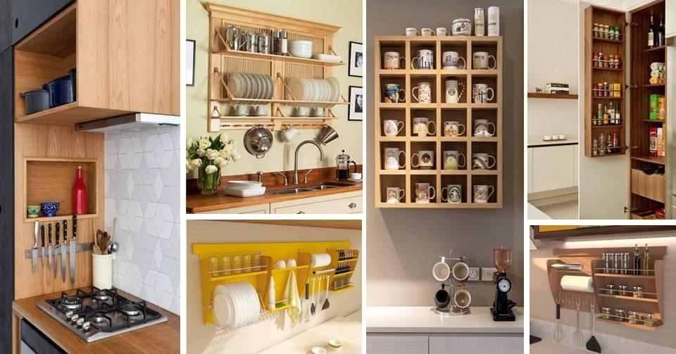 30 Creative Kitchen Cabinets Display Storage Shelving Units