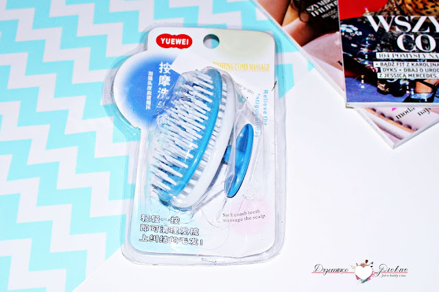 Szczotka do mycia i masażu skóry głowy - Plastic Massage Brush Comb Washing Hair Massager Shampoo Healthy Head Scalp Care