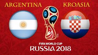 Susunan Pemain Argentina vs Kroasia - Piala Dunia 2018