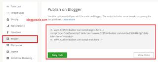 cara membuat contact us di blogger