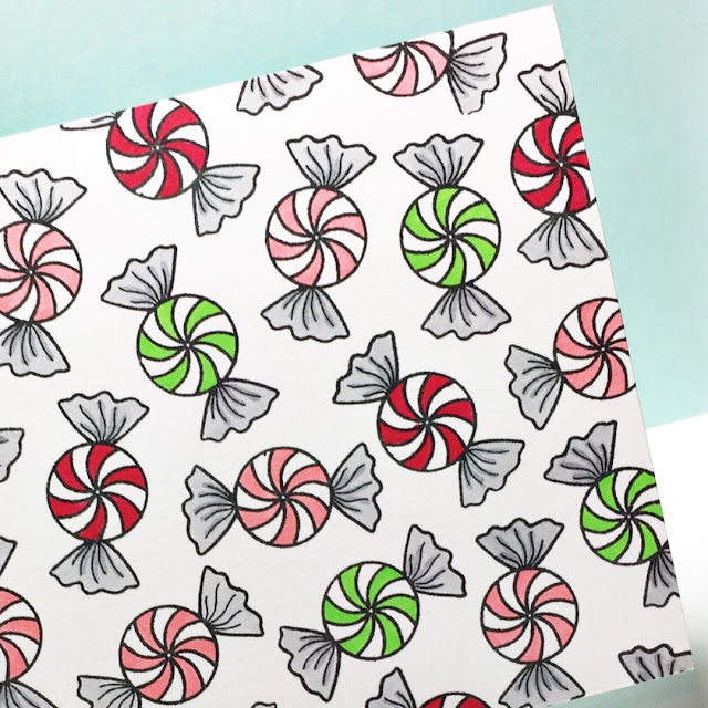 Sunny Studio Stamps: Peppermint Candy Card Background by Melissa Bickford.