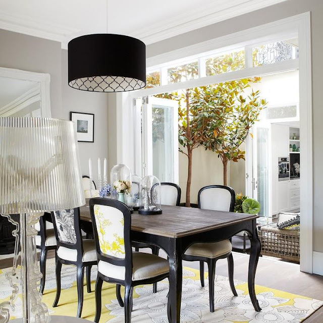 Black And White Dining Room Chairs: Abella Design: Personalizing Lighting With Today's Best