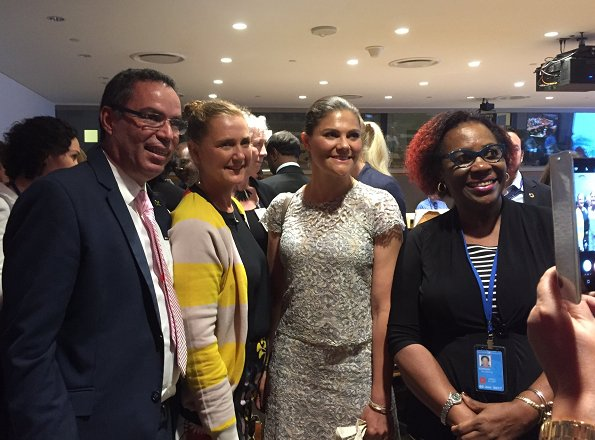 "Crown Princess Victoria attended the ""The World Oceans Day"" event held at the United Nations Headquarters in New York."