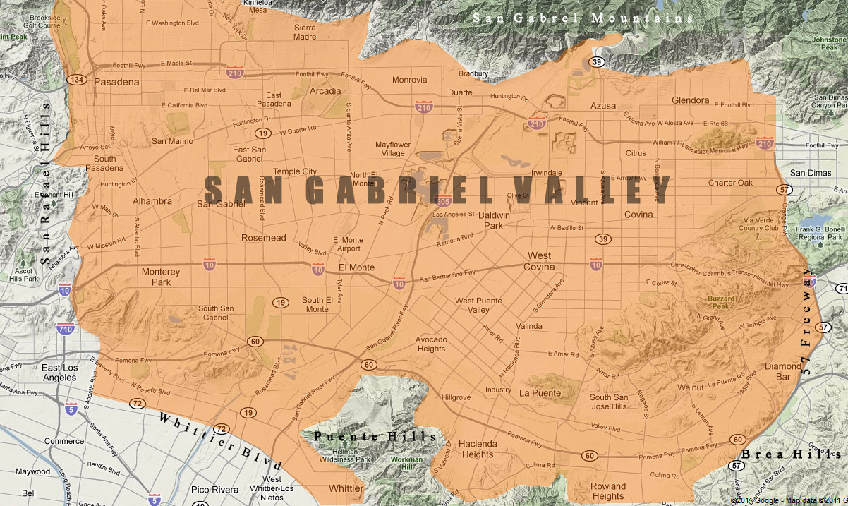 San Gabriel Valley Zip Code Map.Militant Angeleno Sgv Week The San Gabriel Valley Defined