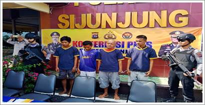 Residivis dan Kurir Narkoba ditangkap Polres Sijunjung