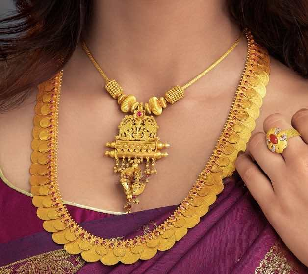 Beautiful South Indian Double Long Necklace Set: Favourite South Indian Jewellery