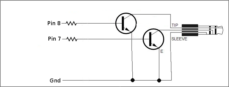 dark sensor using two transistors 1