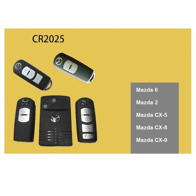 Pin chìa khóa điều khiển Mazda 2,3,CX5,6 CR2025