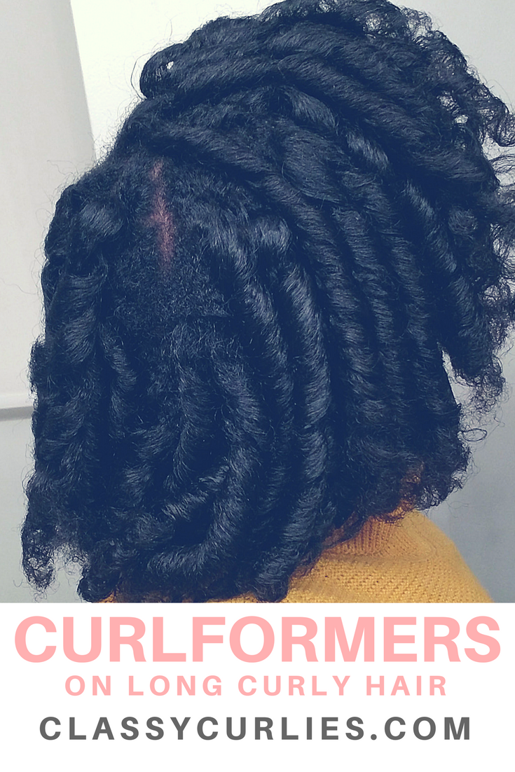 Curlformers on long curly hair- ClassyCurlies