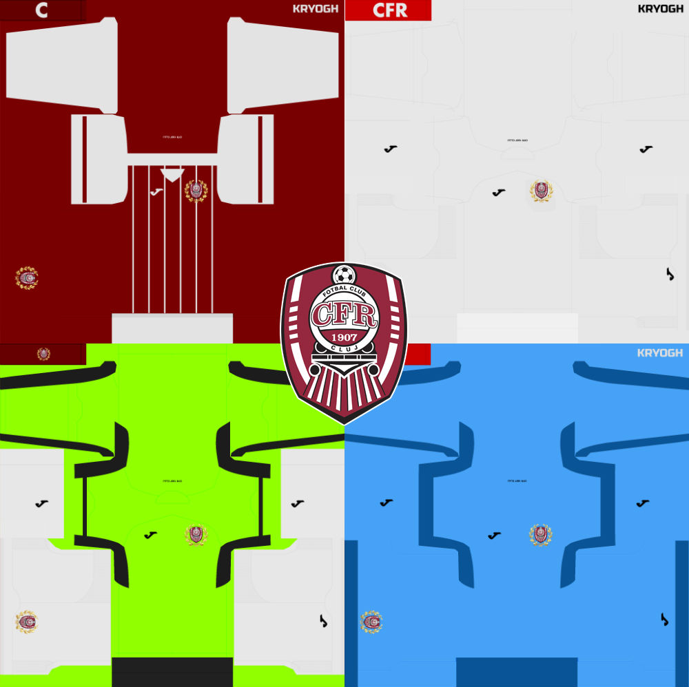 Cfr Cluj: Ultigamerz: PES 2018 CFR Cluj (Romania Liga 1) 2017-18 Kits