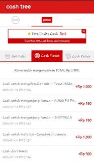 cashtree 001 Bukti pembayaran terbaru pulsa gratis dari Cashtree