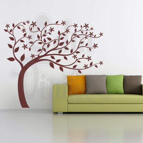Arbol al viento vinilo decorativo para pared cdm - Vinilos de arboles ...