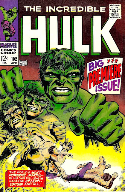Incredible Hulk v2 #102, 1968 marvel silver age comic book cover