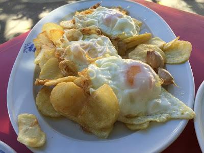 Patatas a lo pobre del restaurante Venta de Gaeta