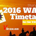WAEC Time Table for 2016