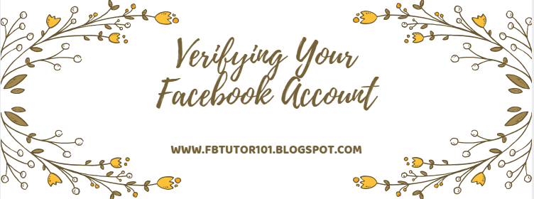 Verifying Your Facebook Account