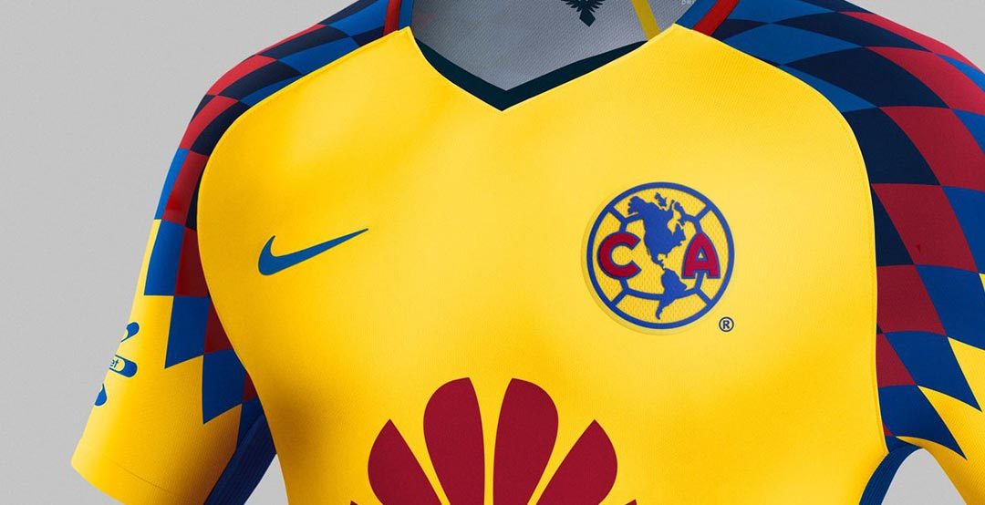 722bd19c95d ... Mexican club Club America today released their new yellow alternative  kit. The new Club America 2018 third shirt boasts a stylish 1990s-inspired  design.