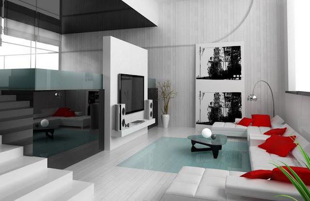 Desain Interior Ruang Tamu Modern Aksesoris Minimalis
