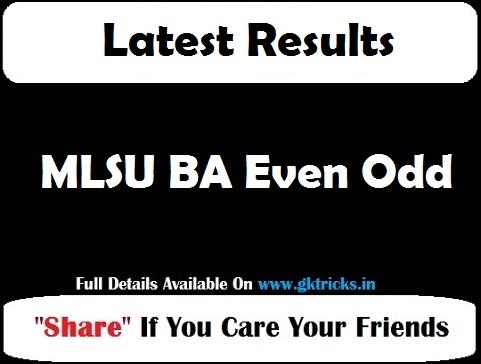 MLSU BA Even Odd