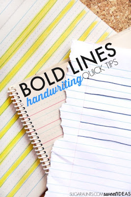 bold lines handwriting trick