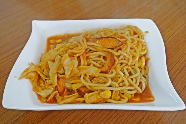 茄汁鐵板麵