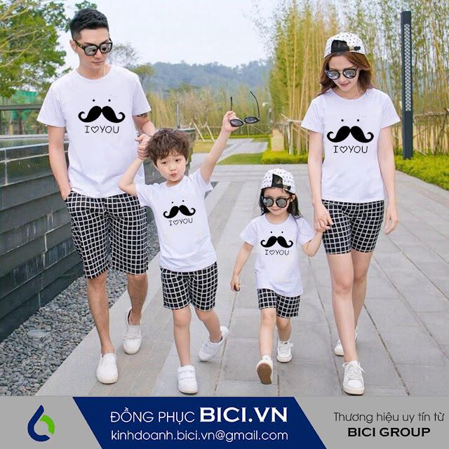 mẫu áo đồng phục gia đình 9