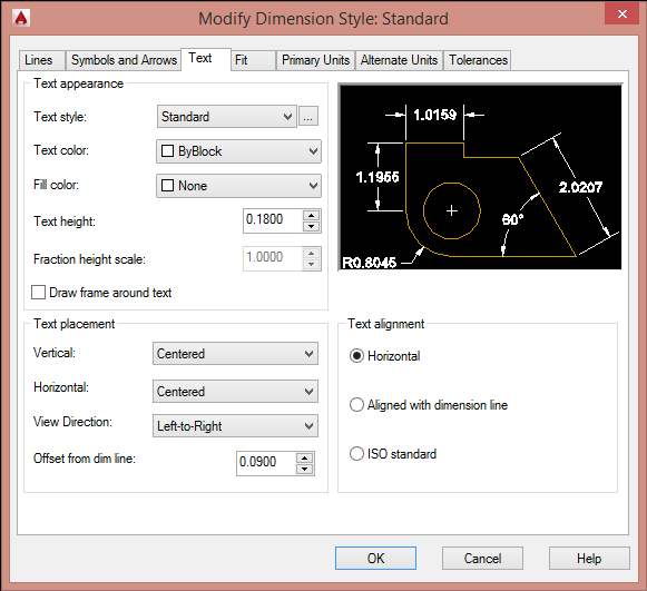 DIMENTION AUTOCAD 2015
