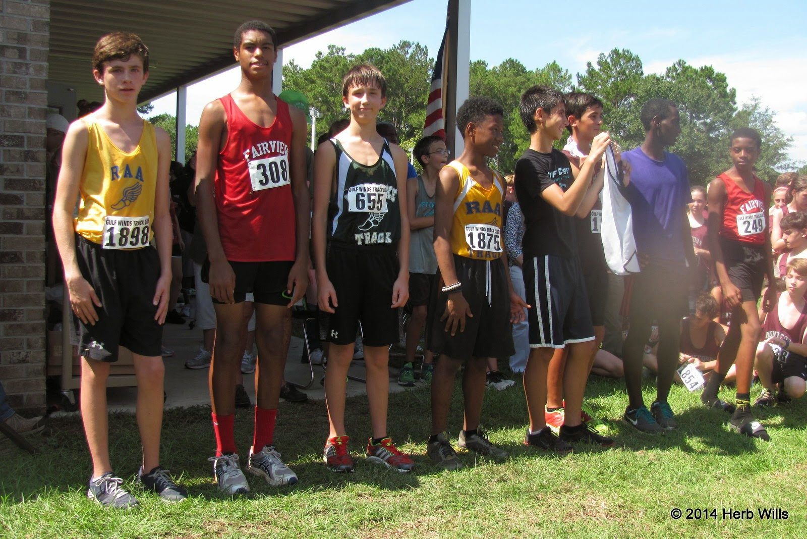 Top boys at the Everhart Invitational