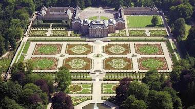 Los jardines del Palacio Het Loo desde el aire