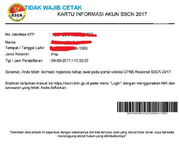 KARTU INFORMASI AKUN SSCN 2017