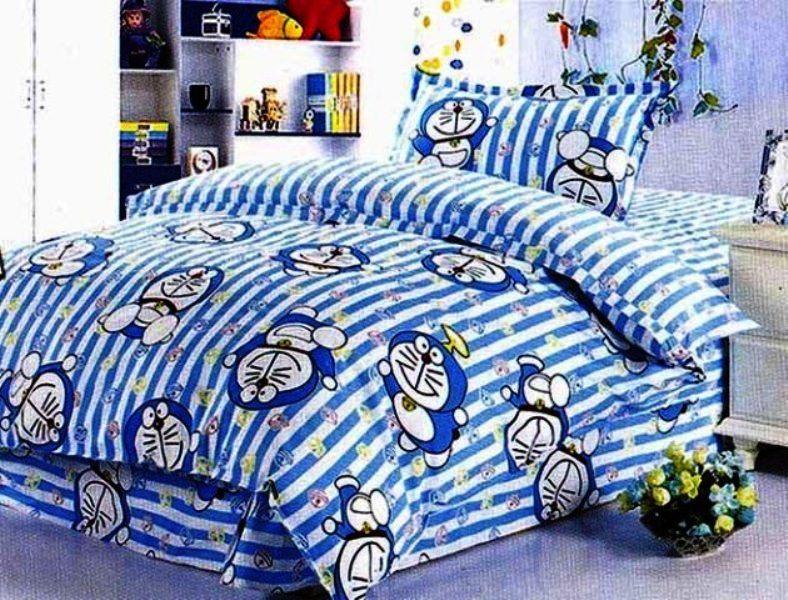 contoh desain kamar tidur anak laki laki tema doraemon