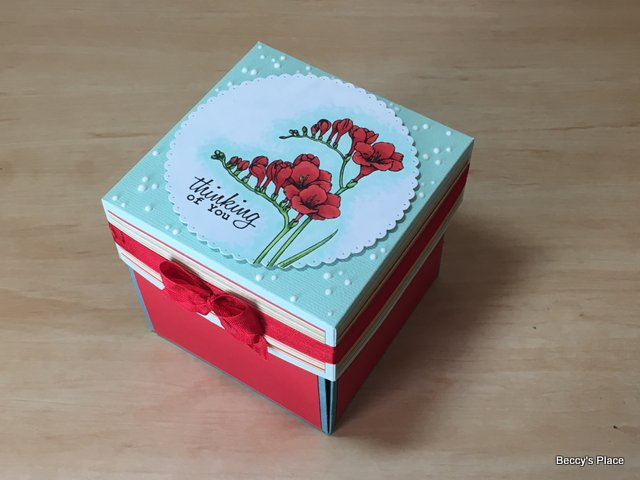 Beccy S Place Tutorial Exploding Box Card
