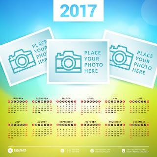 2017カレンダー無料テンプレート113
