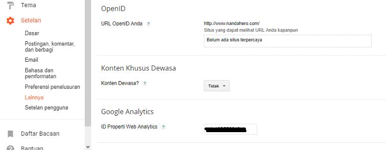 cara mendaftar google analytics dan memasangnya di blog