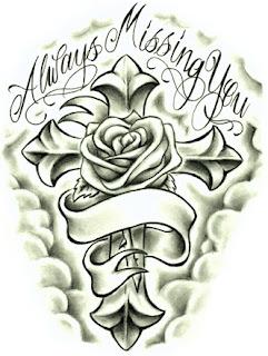 in memory cross tattoos for men - photo #44