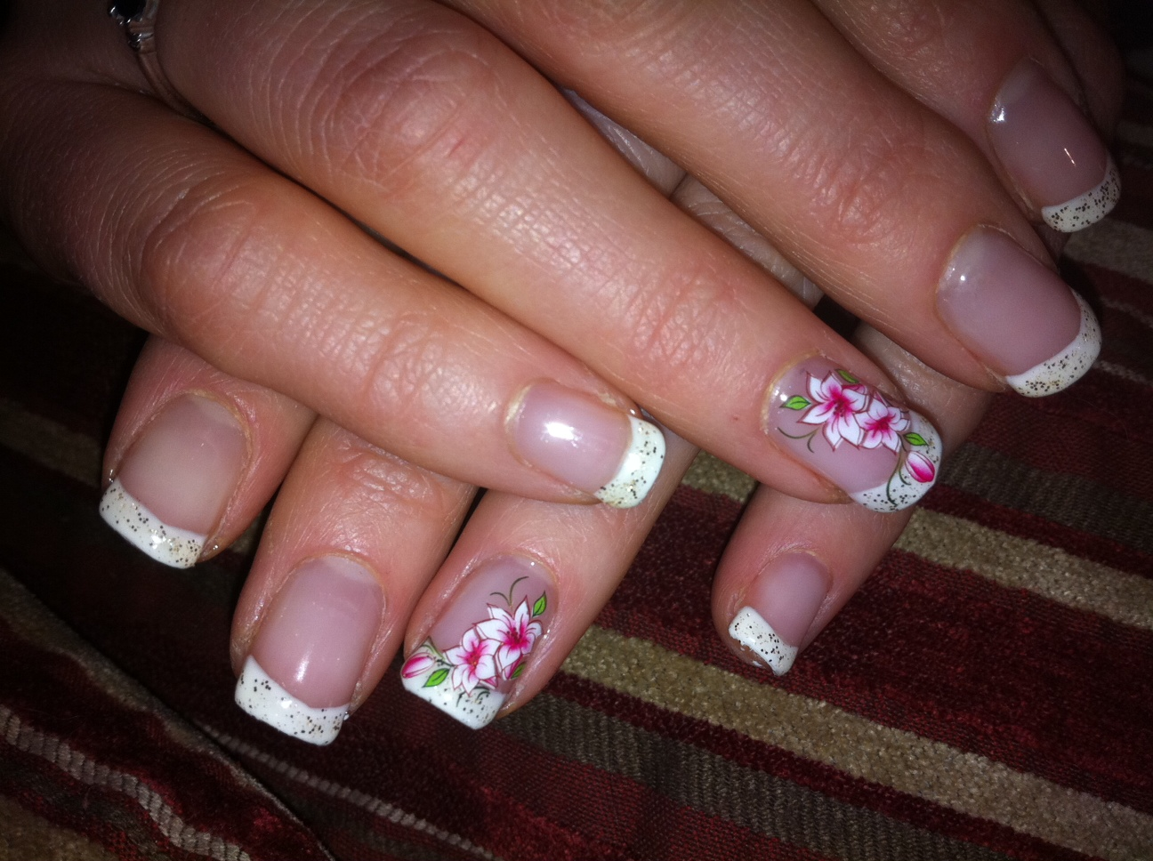French Manicure Acrylic Nail Designs