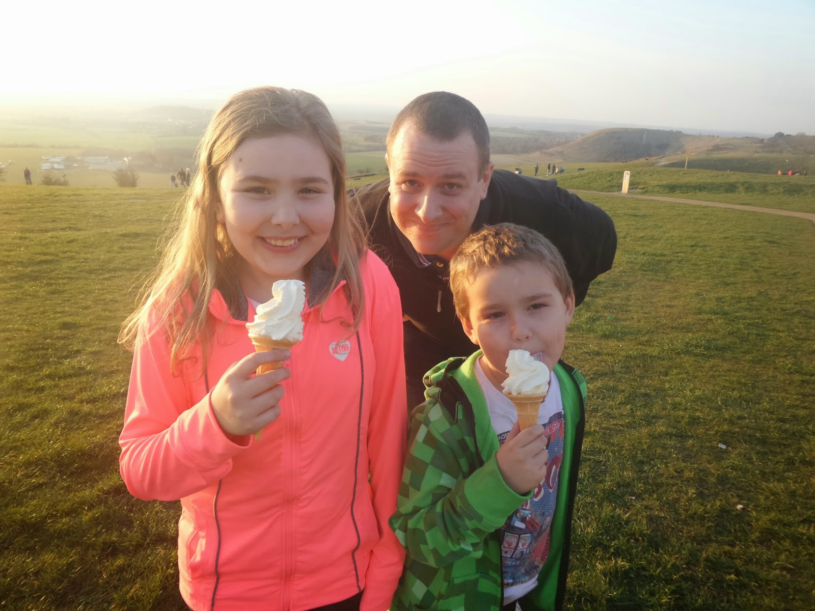 The family on Easter Sunday on Dunstable Downs