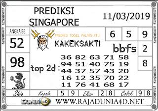 Prediksi Togel SINGAPORE DUNIA4D 11 MARET 2019