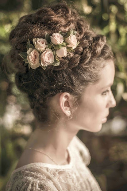 vintage hairstyles floral