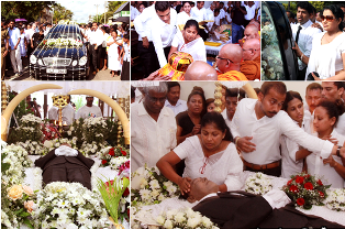 Popular actor Vijay nandasiris funeral